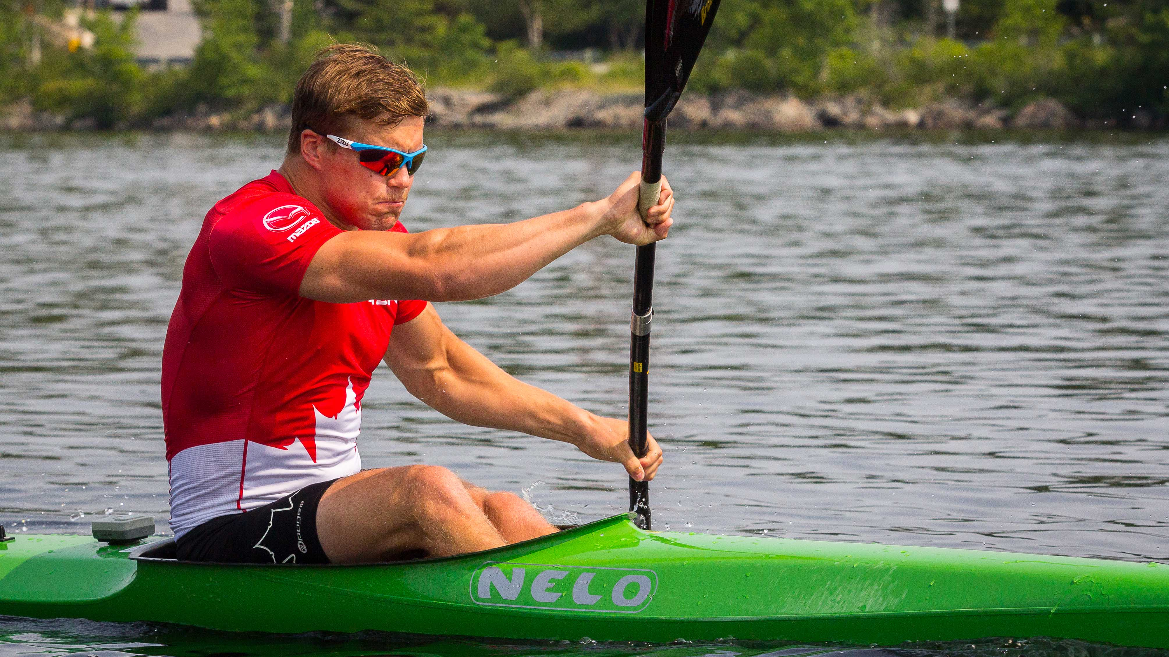 Alex Scott takes to the water in preparation for the 2016 season