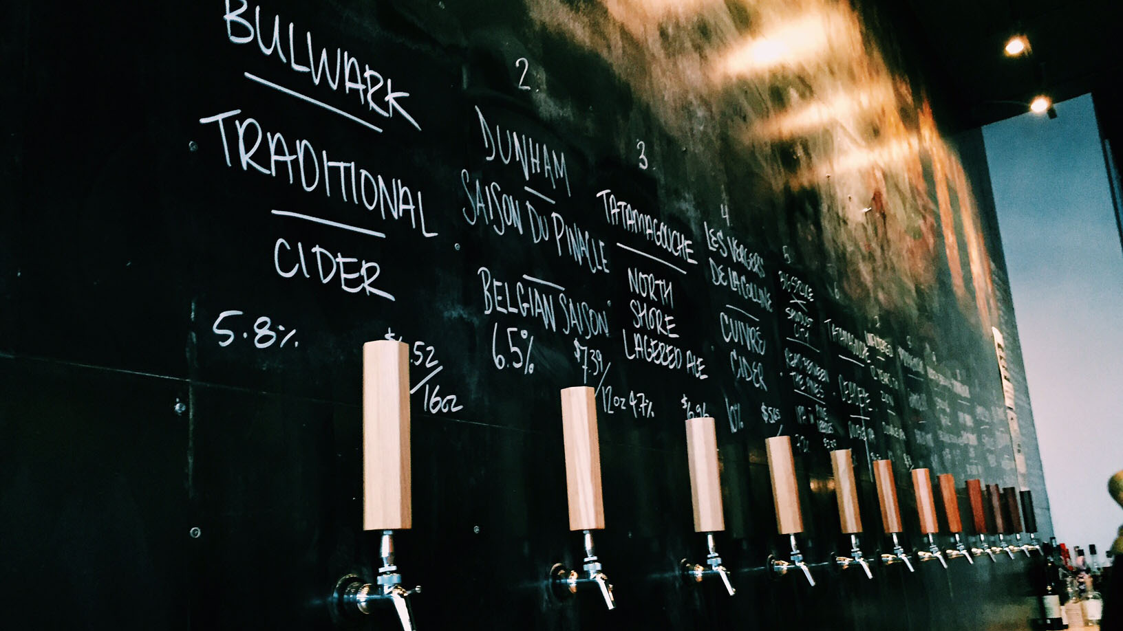 Selection of local beer at Stillwell in downtown Halifax
