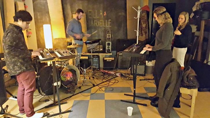 New Love Underground mid-practice