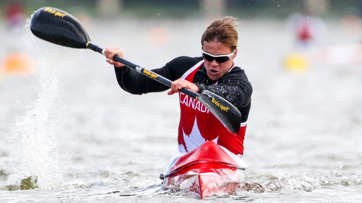 Alex Scott competing for Canada in Copenhagen last May