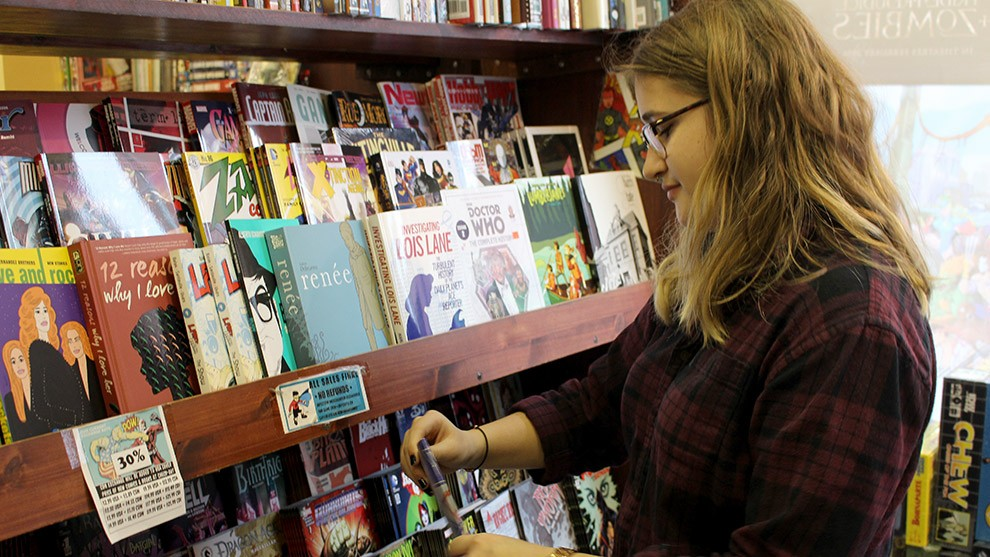Mackenzie Belfour said Strange Adventures' layout makes it easy to find new comics you'll like.