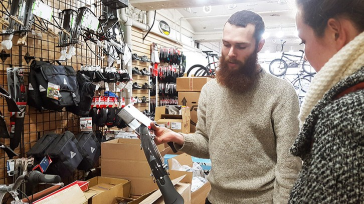 Alex McOuat from IDEALBIKES talks about how light-weight fenders can be.