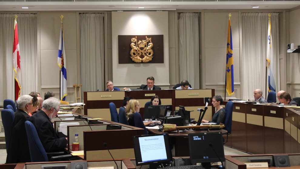 Halifax council voted to have a report made regarding the Halifax logo on community signs