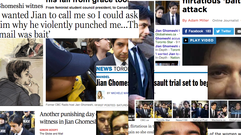 The Jian Ghomeshi trial began this week and has garnered significant media attention.