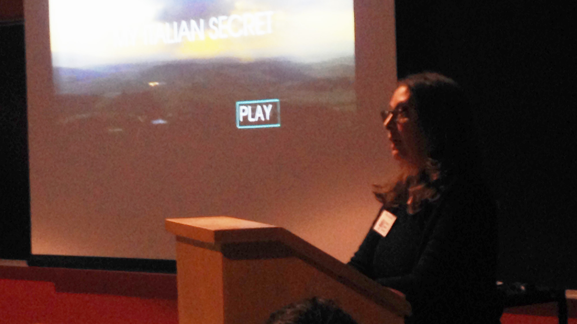 "Edna LeVine introduces documentary ""My Italian Secret: The Forgotten Heroes"""