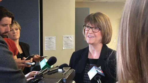 Nova Scotia's justice minister, Diana Whalen, spoke with reports on Tuesday about changing the Incompetent Persons Act.
