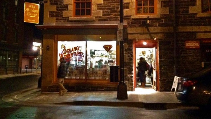 Strange Adventures Comix and Curiosities on Prince Street, Halifax
