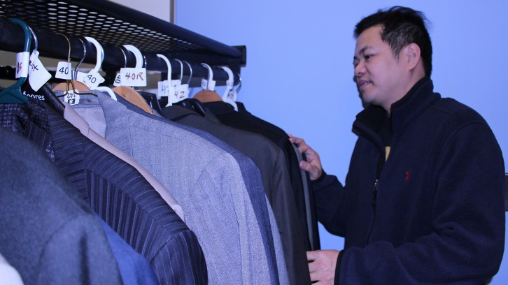 Charles Banal was impressed with the selection after attending Attire to Aspire