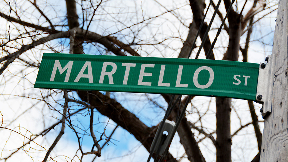 Martello Street will be no more in a few months.