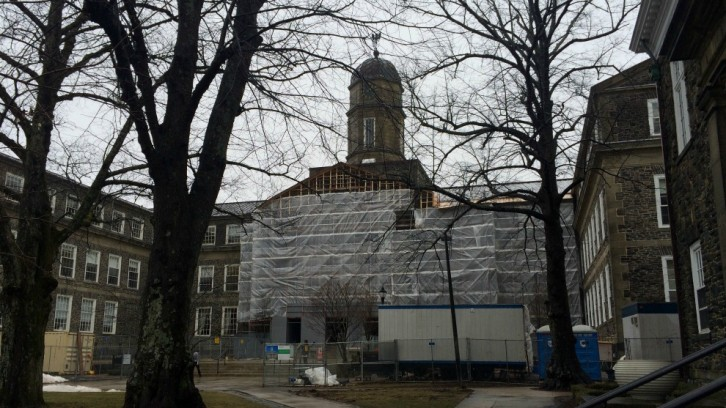 Construction on the Henry Hicks building at Dalhousie.