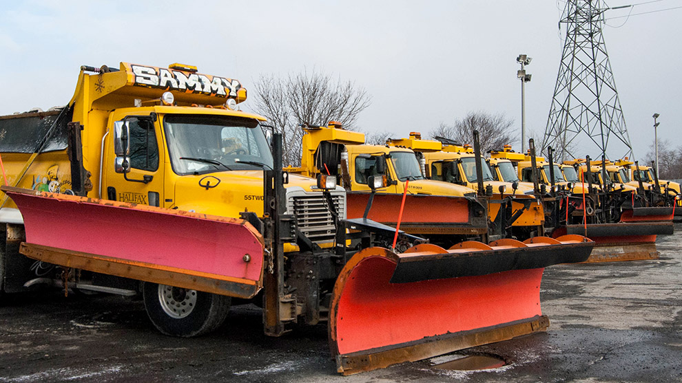 Spring may be coming, but these trucks won't be out of work.