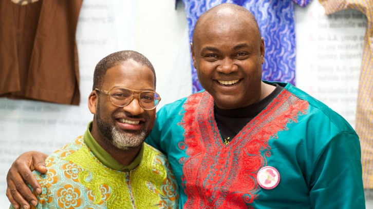 Pastor Kirby Spivey, of New Beginnings Ministries (left) and Olugu Ukpai founder of CHAMA