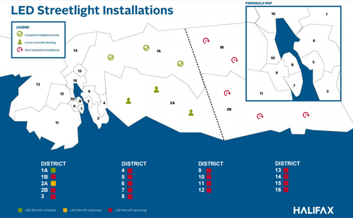 This map from the Halifax website shows the progress of the 18-month project.