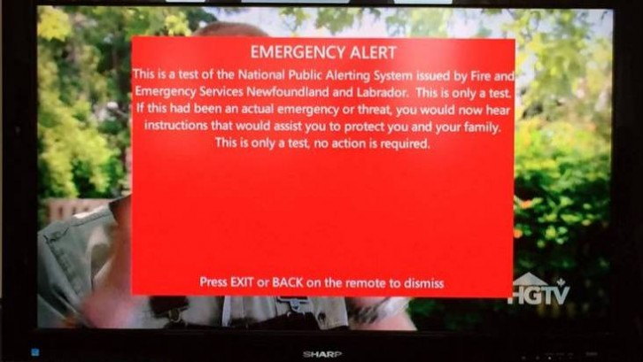 Nova Scotia tests emergency alert system | The Signal