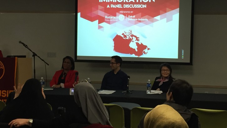 The three panellists, Ritu Ganju, Tamim Arabi, and Augusta Chang ( from left to right).
