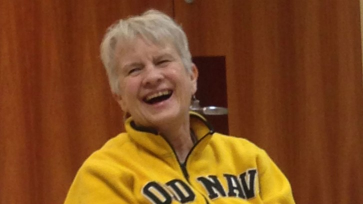 Jann Chabassol says laughter yoga is 'good for the soul.'