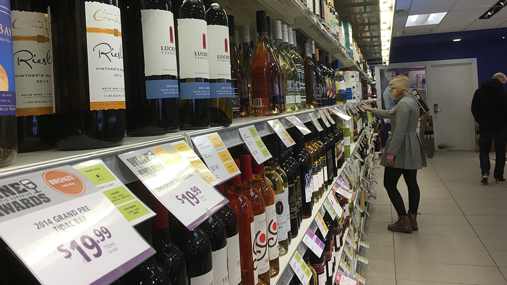 Local wine sales were up 14.7% in the last quarter of 2015