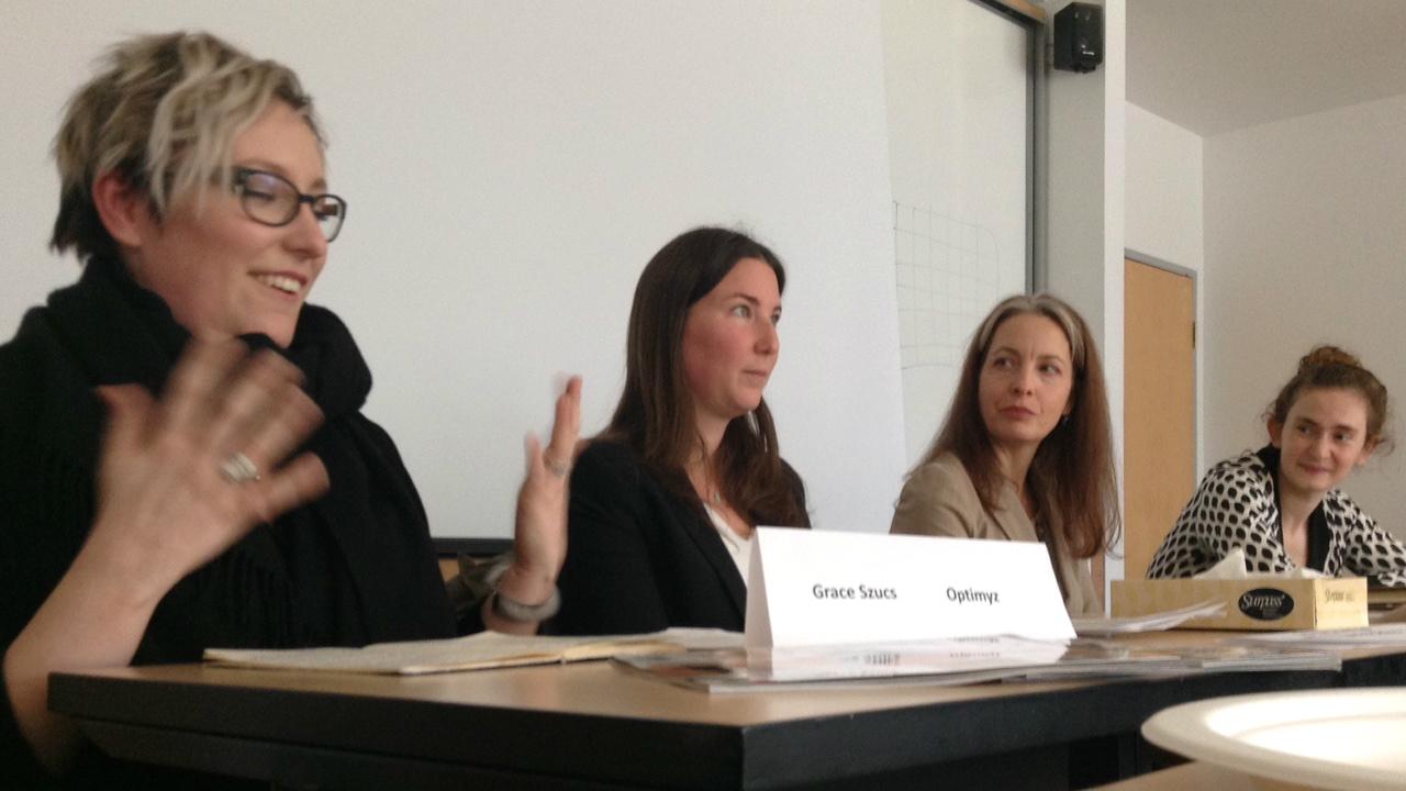 From left to right, Grace Szucs, Georgia Grundlingh, Mary McLaren, Kate McKenna.
