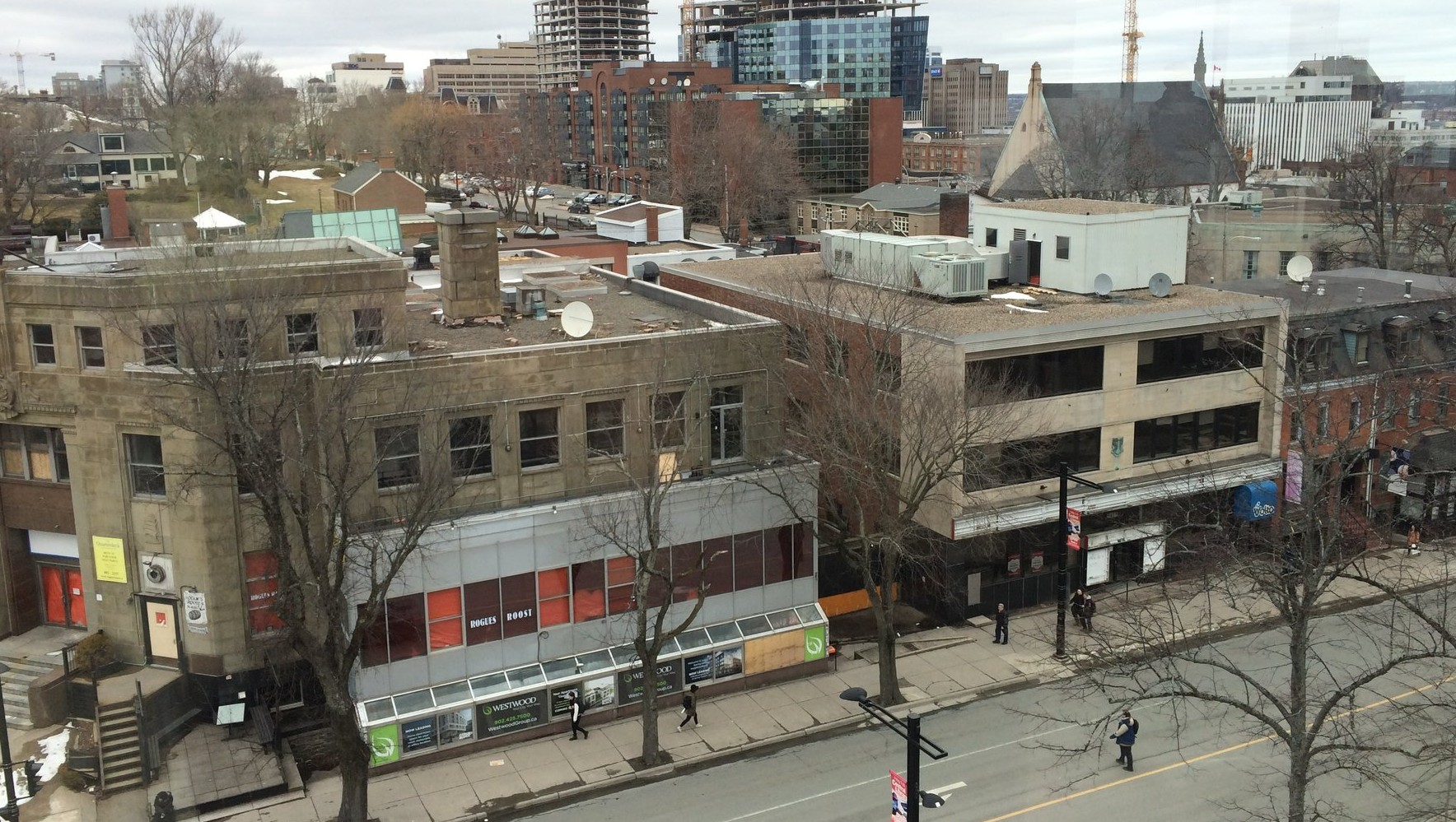 The block, pictured here with a birds-eye-view, will be demolished next week.