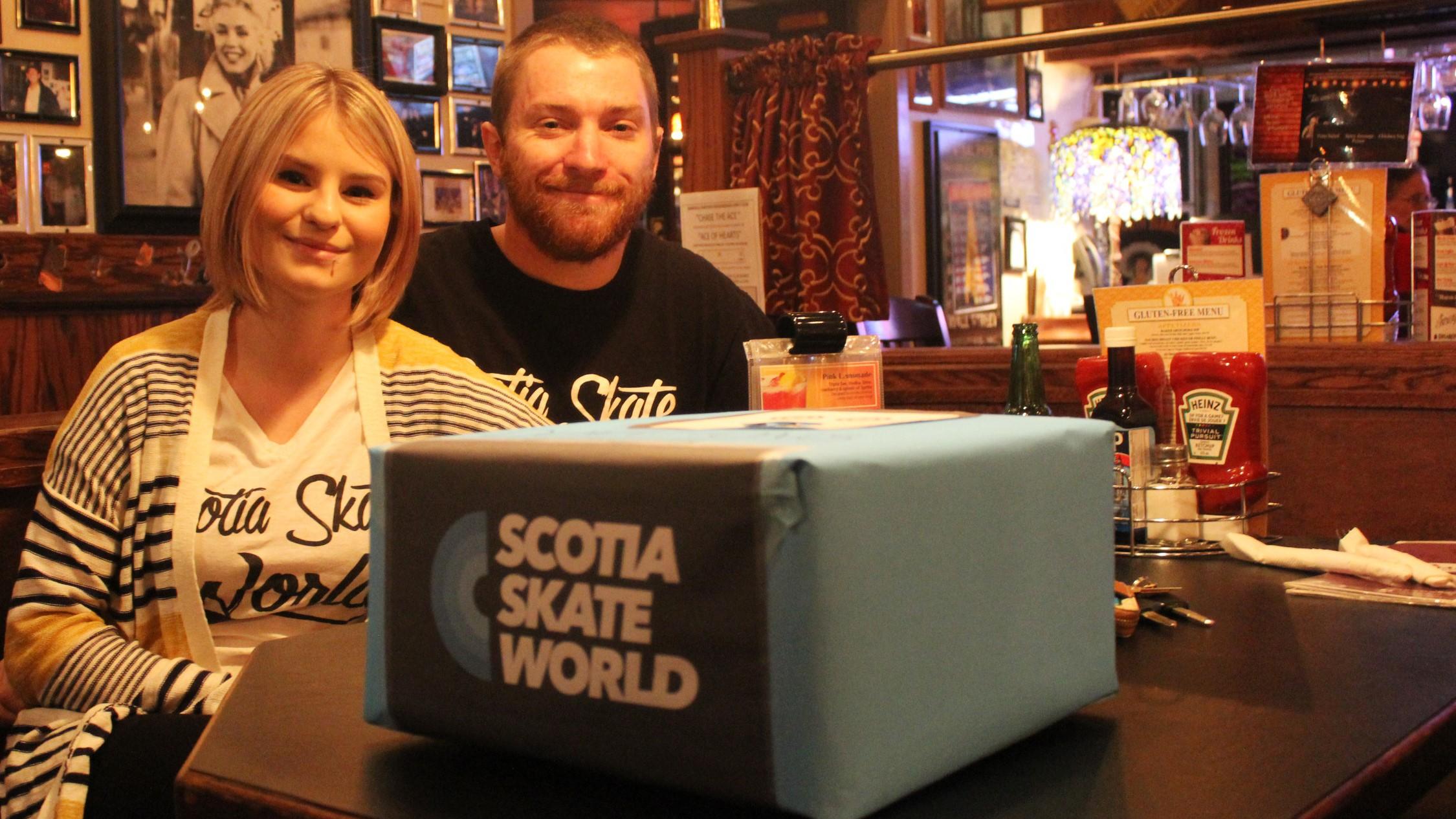Craig McNally and his girlfriend Kelly Hutchinson at Saturday night's fundraising event.