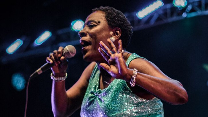 American Soul singer Sharon Jones performs at Halifax Jazz Fest in 2015