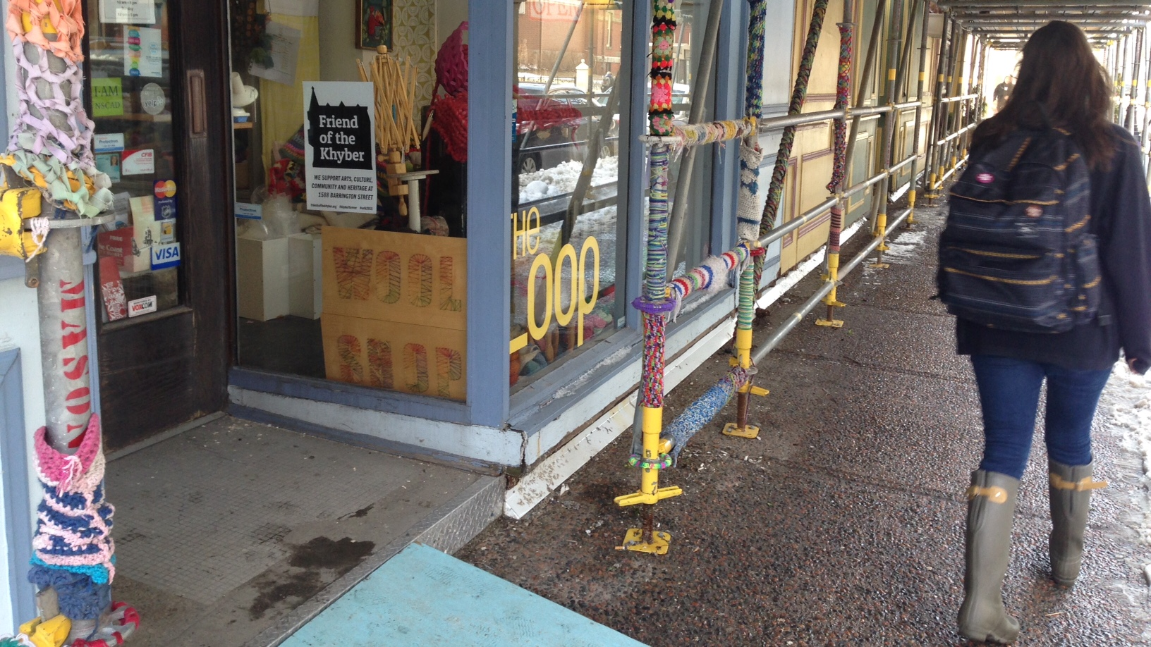 There has been scaffolding outside the Loop for some time.