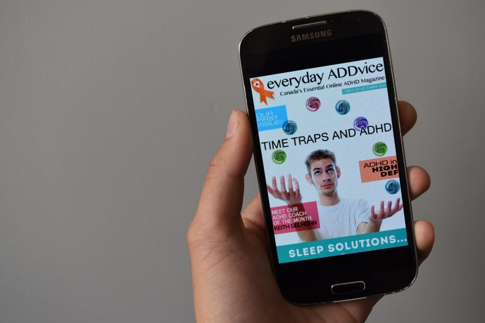 The cover of the first issue of Everyday ADDvice Magazine.