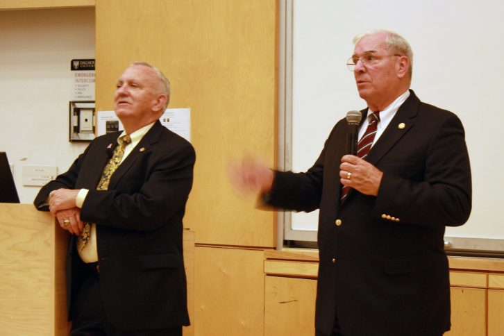 Lancaster, left, was in the House of Representatives from 1987 to 1995 and Kuykendall, right, served from 1999 to 2001.