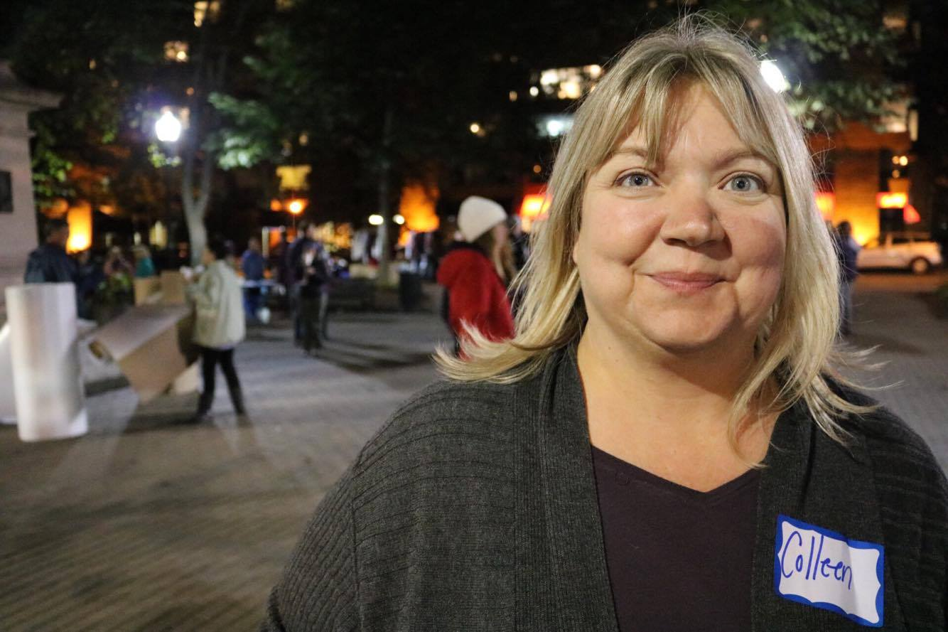 Colleen Ritchie at Shelter Nova Scotia's fourth annual Sleep Out.