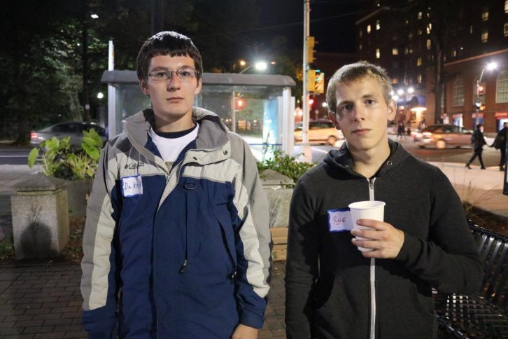 Dakota Harnish, left, and Kyle Weare attended the Shelter Nova Scotia's Sleep Out.