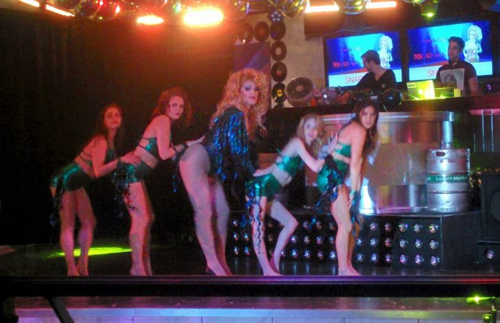 Drag queen Deva Station was joined by Unleashed Dancers to perform a routine.