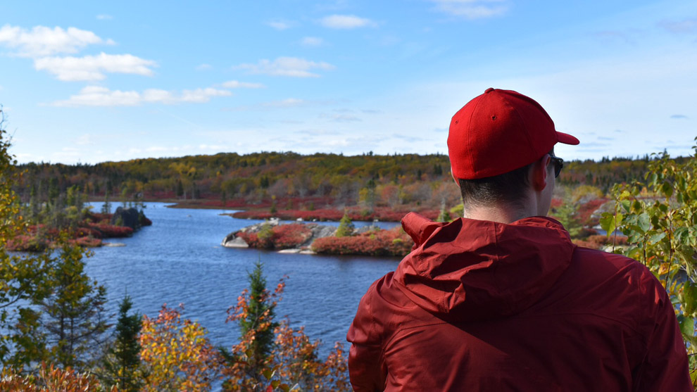 John Sandham hikes the Bluff Wilderness Hiking Trail, about 25 minutes outside of Halifax by car.