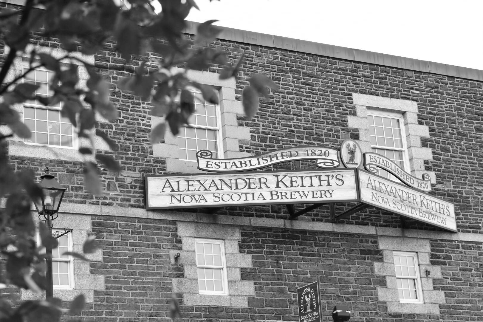 The entrance to Alexander Keith's Brewery.