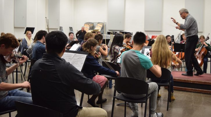 The Nova Scotia Youth Orchestra practices at the Fountain School of Performing Arts.