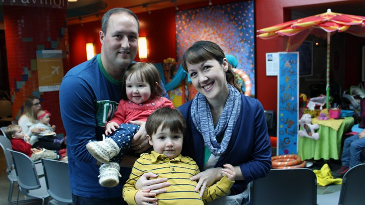 Norma and Andrew Harty took part in the Family Fun Fair on Saturday, along with their children, Peter and Neila