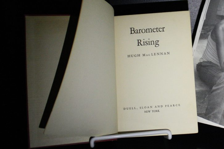 The novel Barometer Rising was on display during Nocturne as part of Clark's installation.