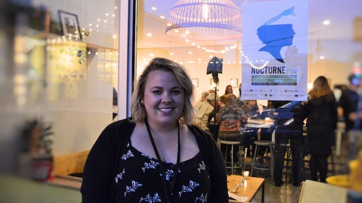 Nocturne Chairperson Lindsay Ann Cory co-hosted the opening night event.