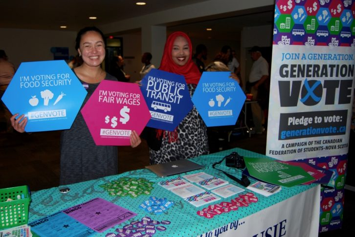 Amina Abawajy and Charlotte Kiddell are working to educate young voters about municipal issues.