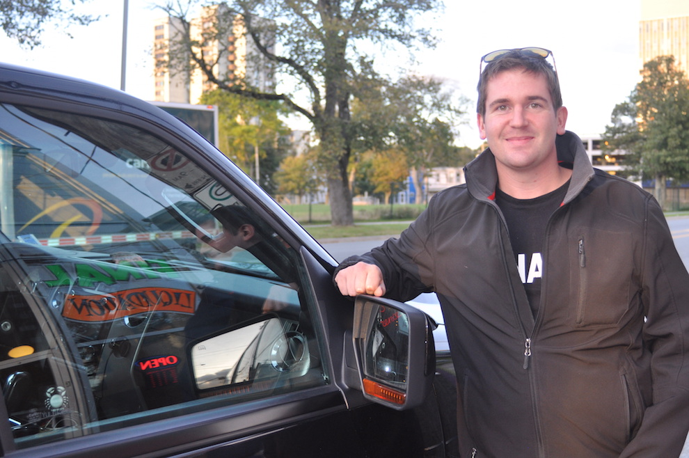 Matt Walters drives students to and from the Halifax Airport. Photo by Caora McKenna