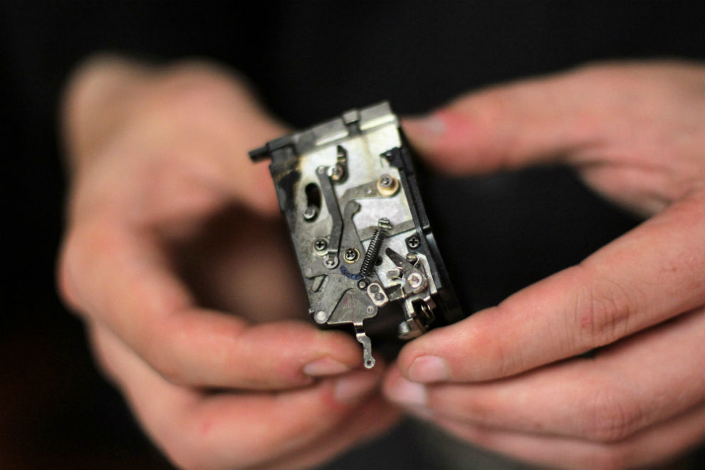 """""""Fixing mechanical cameras is actually really simple,"""" says Wesley Gould at the fix-it fair."""