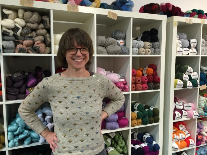 Mimi Fautley at her yarn shop The Loop in downtown Halifax.