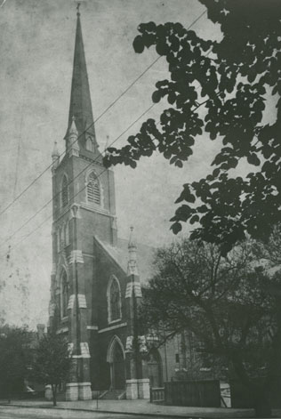 The rebuilt Saint Patrick's Church opened in 1885 (Nova Scotia Archives)