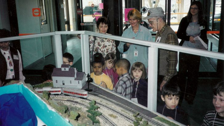 The model trains at the IWK were one of Dr. Gillespie's passion projects.