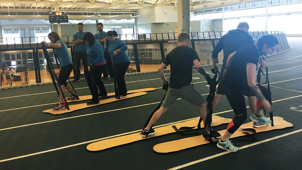 A game of Big Foot at the Corporate Games.