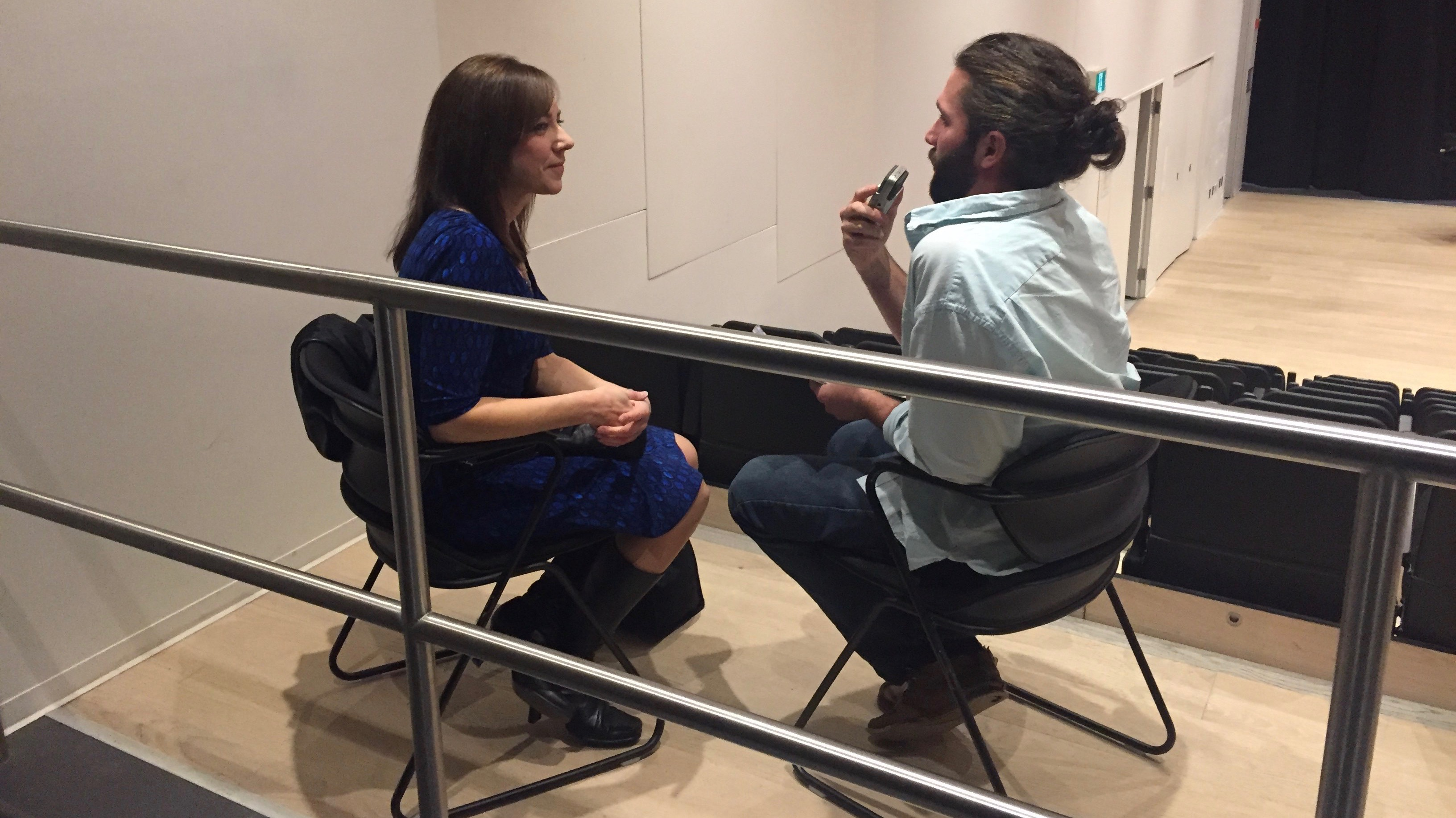 Seth Earle interviews Bobbi-Jean MacKinnon at Halifax Central Library