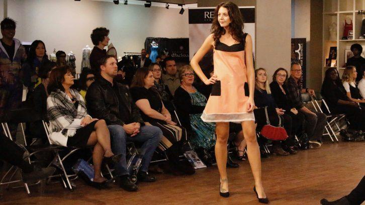A model showcasing Stephanie Rybczyn's comfortable cloth design.