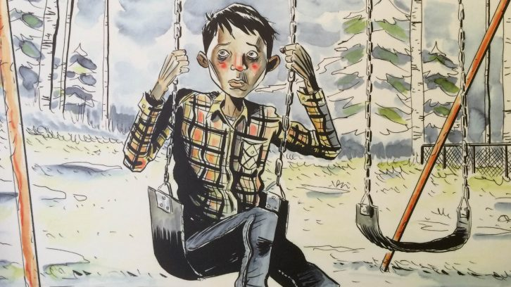 Illustration from the Secret Path project by artist Jeff Lemire.