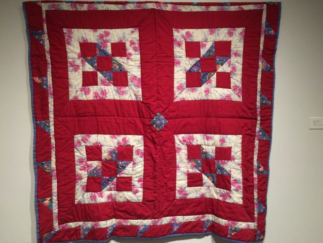 One of the family quilts on display in Grant's exhibit.