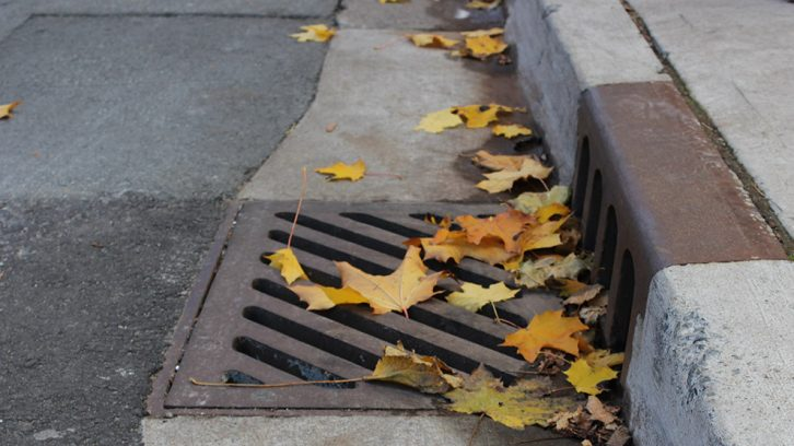 Storm water runoff is rain that flows over ground surfaces, like pavement, into drains, pipes and ditches.