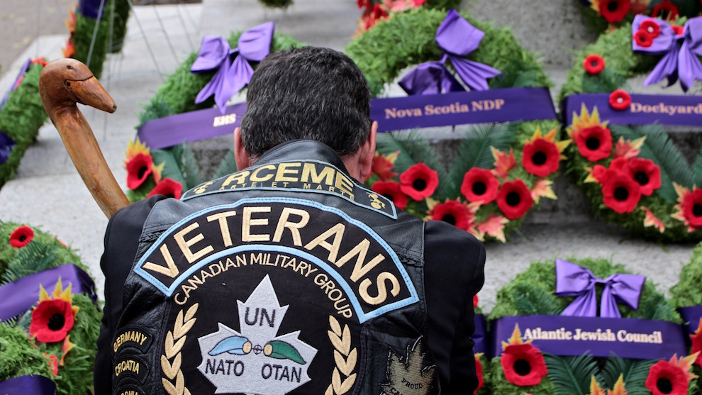 Canadian veterans gathered in Grand Parade to pay their respects to fallen soldiers on Remembrance Day.
